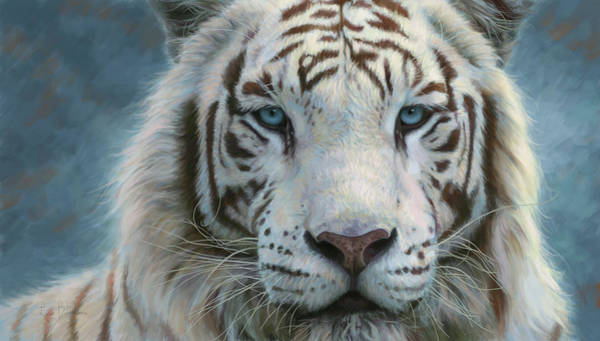 White Tiger Wall Art - Painting - Serene Emperor by Lucie Bilodeau