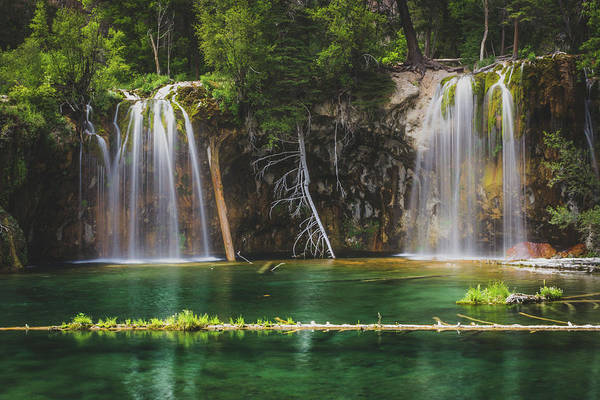 Photograph - Serene Hanging Lake Waterfalls by Andy Konieczny