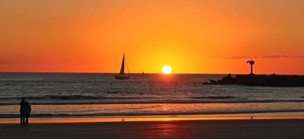 Photograph - Serene Ocean Sunset - 2 by Christy Pooschke