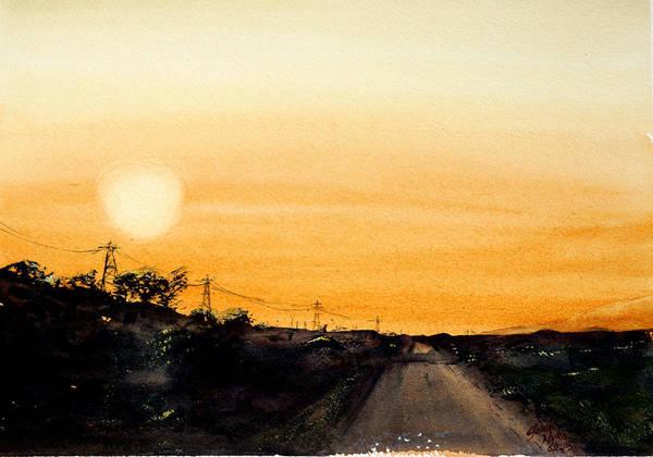 Wall Art - Painting - Serengeti Sunset by James Nyika