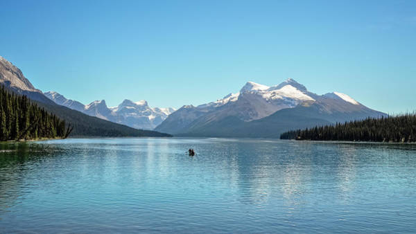 Aspect Wall Art - Photograph - Serenity At Lake Maligne, Canada by Daniela Constantinescu