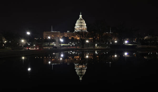 Photograph - Serenity At Our Capitol ... An Isolated Event by Don Mercer