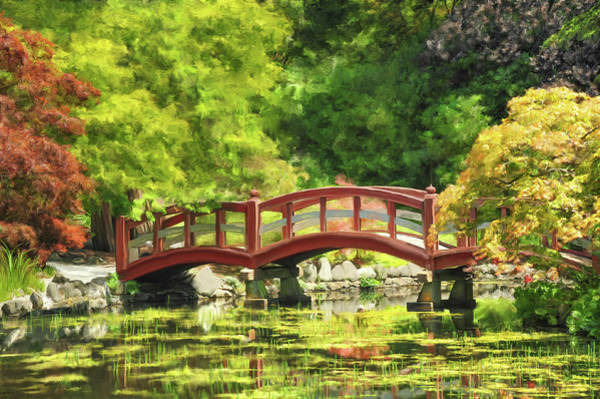 Digital Art - Serenity Bridge II by Ramona Murdock