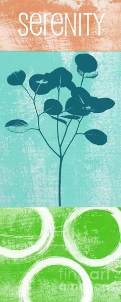 Leaf Mixed Media - Serenity by Linda Woods