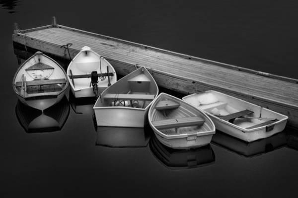 Photograph - The Five Dinghy's  by T-S Fine Art Landscape Photography