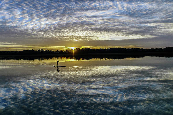 Photograph - Serenity On A Paddleboard by Jerry Gammon