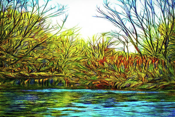 Digital Art - Serenity On The River by Joel Bruce Wallach