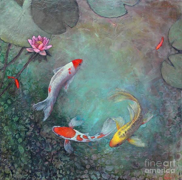 Create Painting - Serenity Pool by Lori McNee