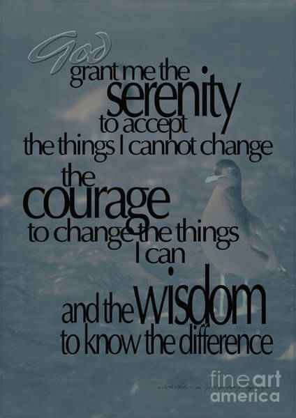 Serenity Prayer Digital Art - Serenity Prayer 03 by Vicki Ferrari