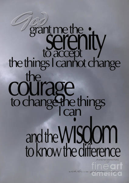 Serenity Prayer 05 Art Print