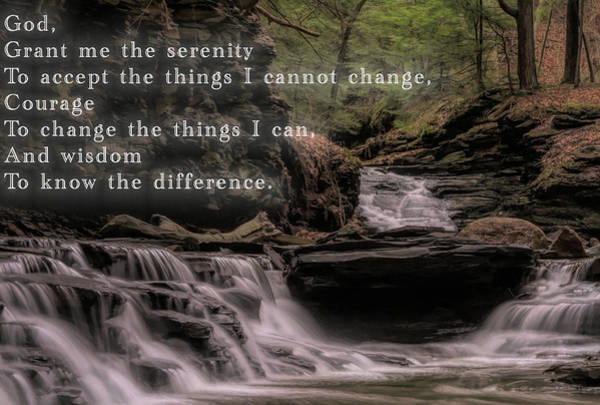 Mixed Media - Serenity Prayer by Dan Sproul
