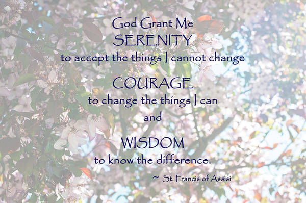 Serenity Prayer Art Print by Edward Congdon