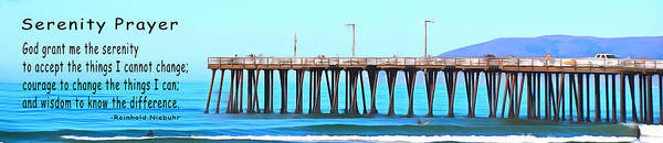 Photograph - Serenity Prayer Pismo Pier Pano by Barbara Snyder