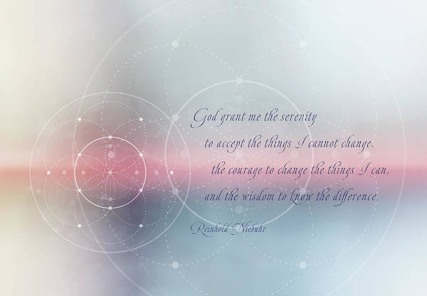 Serenity Prayer Digital Art - Serenity Prayer by Terry Davis