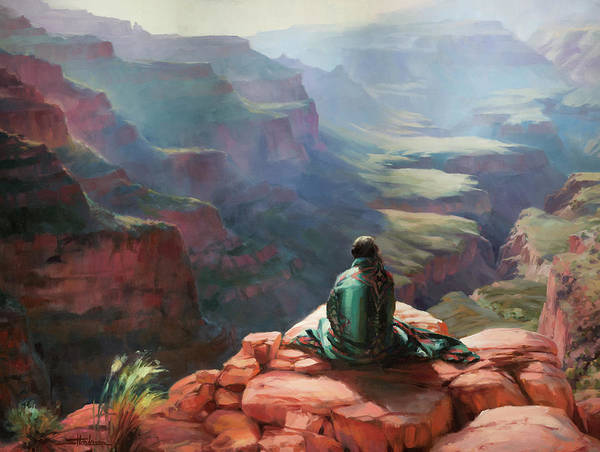 Horizon Wall Art - Painting - Serenity by Steve Henderson