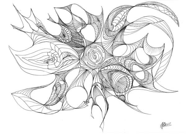 Drawing - Serenity Swirled by Charles Cater