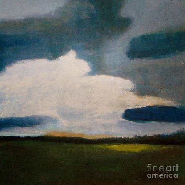 Dark Olive Green Wall Art - Painting - Serenity Under The Clouds by Vesna Antic