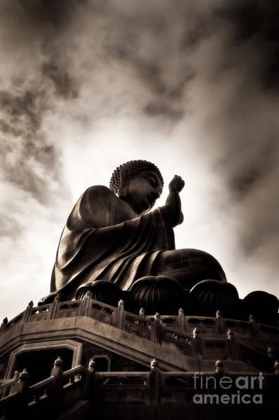 Giant Buddha Photograph - Serenity by Venetta Archer