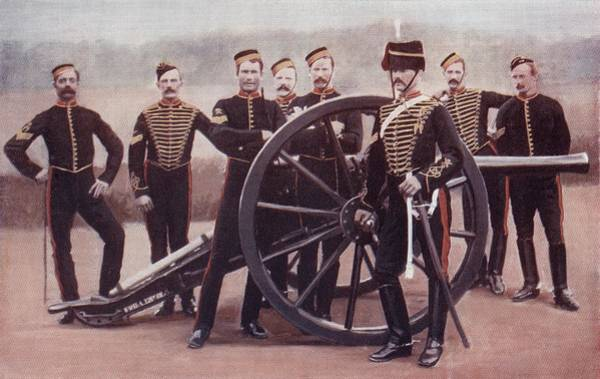 Royal Artillery Wall Art - Drawing - Sergeants Of The Royal Horse Artillery by Vintage Design Pics