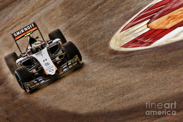 Photograph - Sergio Perez 2015 Force India by Blake Richards