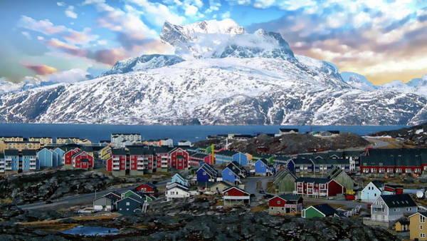 Photograph - Sermitsiaq Mountain Range by Anthony Dezenzio