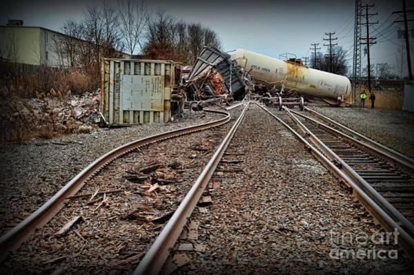 Train Derailment Photograph - Serpentine Railroad Tracks by Paul Ward