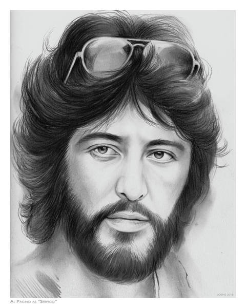 Movie Drawing - Serpico by Greg Joens