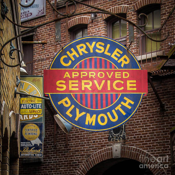 Wall Art - Photograph - Service Sign by Perry Webster