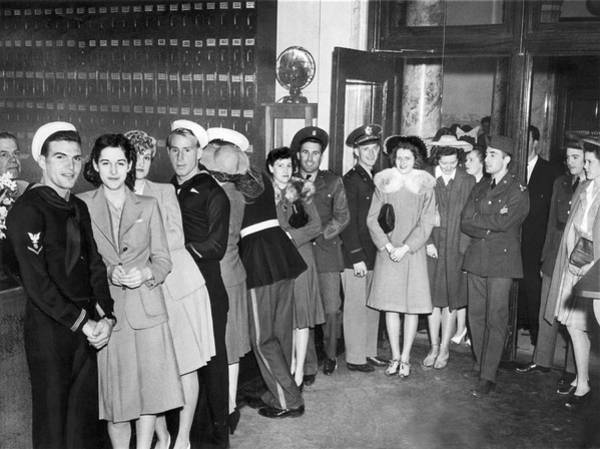 Married Photograph - Servicemen Get Married In Reno by Underwood Archives
