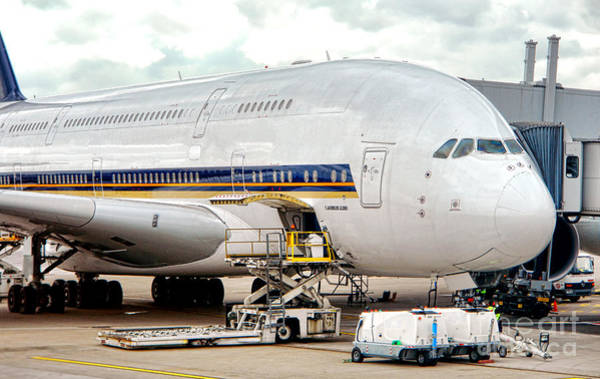Airbus A380 Wall Art - Photograph - Servicing The Giant by Olivier Le Queinec