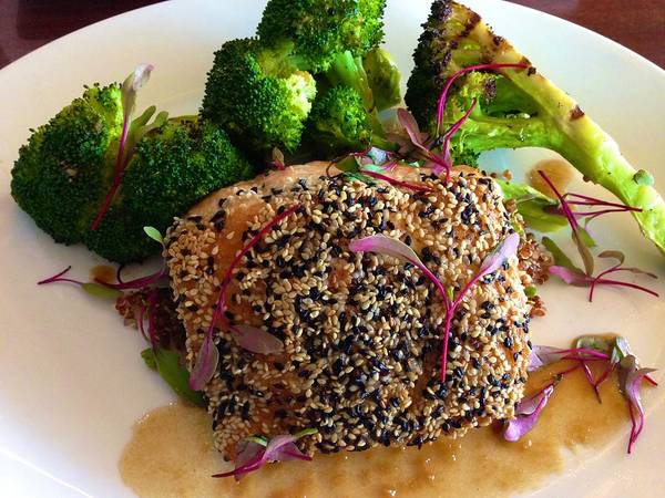 Photograph - Sesame Tuna With Broccoli by Polly Castor