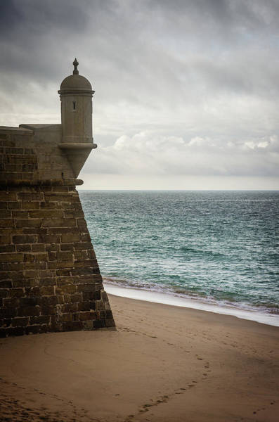Guard Tower Wall Art - Photograph - Sesimbra Fort by Carlos Caetano