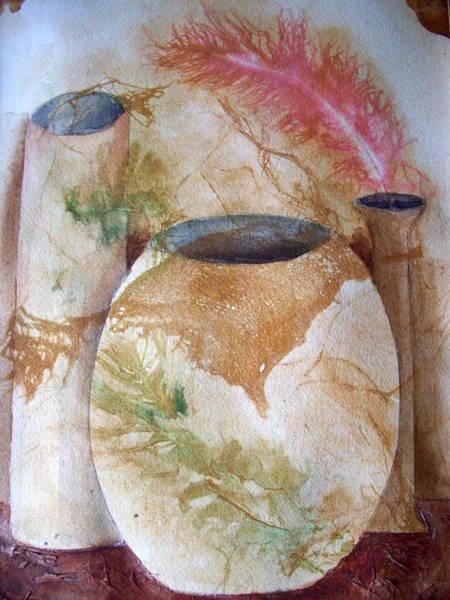 Painting - Set Of Vases by Audrey Bunchkowski