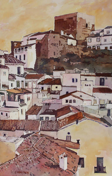 Painting - Setenil Fortress by Jenny Armitage