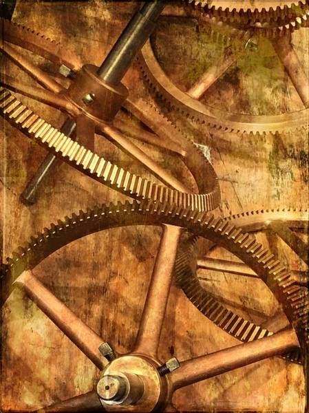 Photograph -  Seth Thomas 1911 Clock Mechanism -  Gears by Marianna Mills