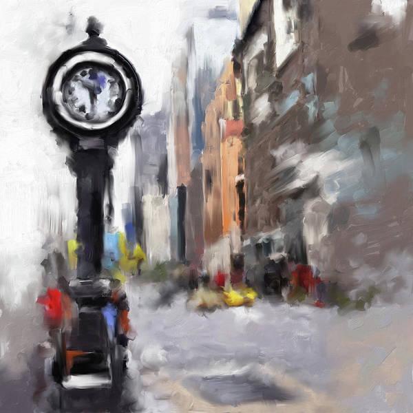 Chinatown Painting - Seth Thomas Clock Ny 562 1 by Mawra Tahreem
