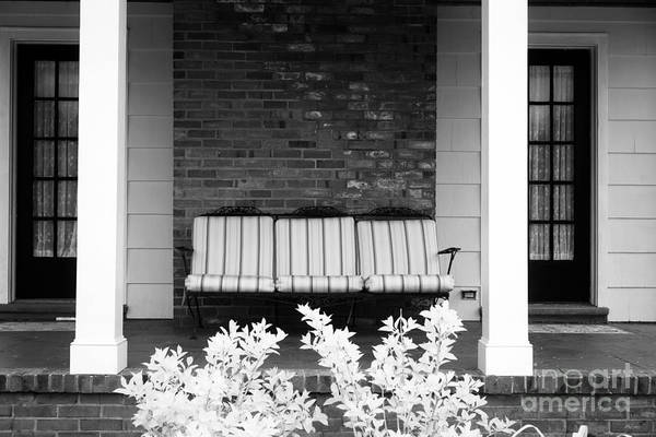 Down The Shore Photograph - Settee On The Front Porch by John Rizzuto