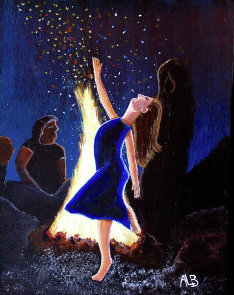 Painting - Setting On Fire by April Burton