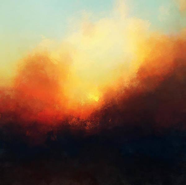 Bailey Digital Art - Setting Sun by Lonnie Christopher