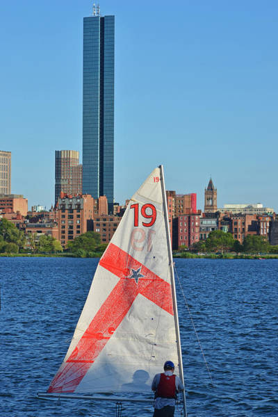 Photograph - Setting Up The Sailboat On The Charles River Boston Ma by Toby McGuire