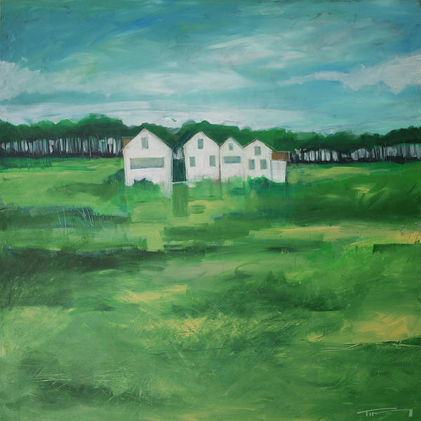Painting - Settlement By Field by Tim Nyberg