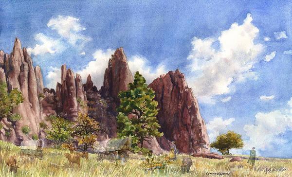 Camper Wall Art - Painting - Settler's Park, Boulder, Colorado by Anne Gifford