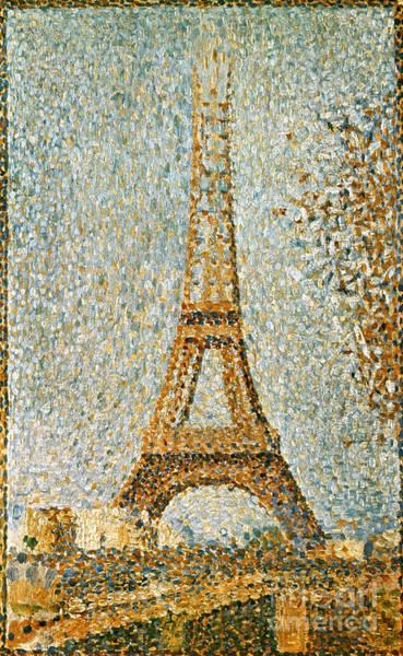 Photograph - Seurat: Eiffel Tower, 1889 by Granger