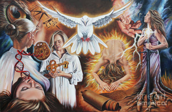 Wall Art - Painting - Seven-fold Spirit Of The Lord by Ilse Kleyn