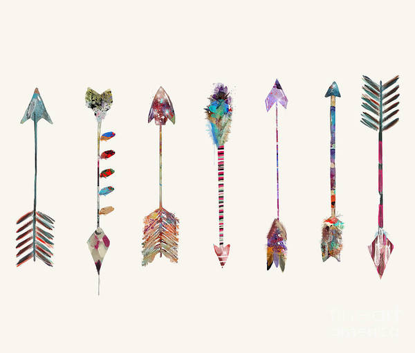 Feather Painting - Seven Little Arrows by Bri Buckley