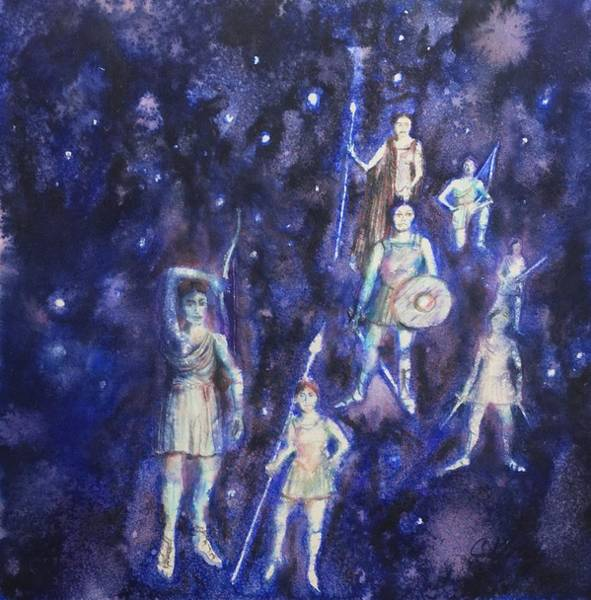 Pleiades Painting - Seven Sisters by Christine Kfoury