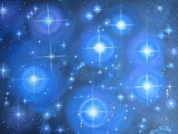 Pleiades Painting - Seven Sisters by Tara Rieke-Elledge