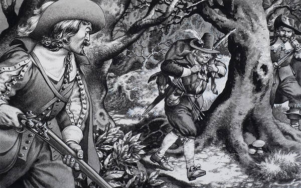 Woods Drawing - Seventeenth Century Poacher by Pat Nicolle