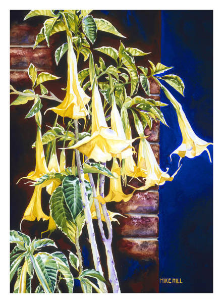 Yellow Trumpet Wall Art - Painting - Seventh Heaven by Mike Hill