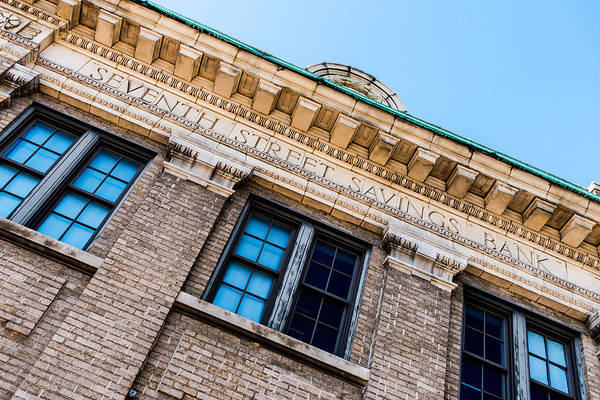 Photograph - Seventh Street Savings Bank by SR Green
